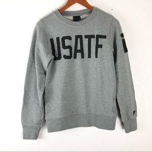 USATF Nike grey crewneck pullover sweater